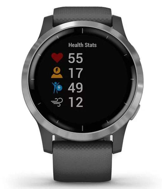 Спортивные наручные часы Garmin Vivoactive 4 Shadow Gray/Silver