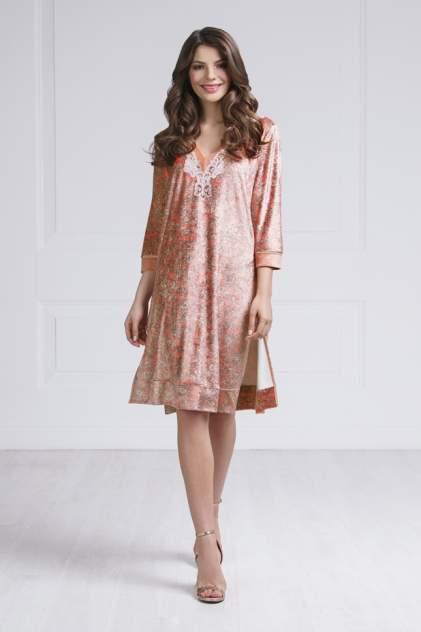 Домашнее платье женское Laete 20281 розовое 2XL