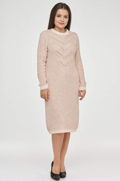 Платье женское VAY 182-2378 розовое 52 RU