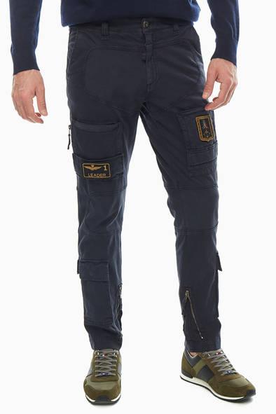 Брюки мужские Aeronautica Militare PA939CT83 08184 синие 50 IT