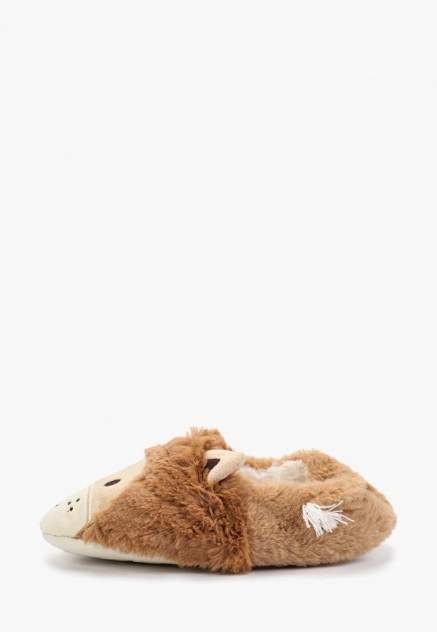 Домашние тапочки женские Halluci Львы с задником коричневые 40-41 RU