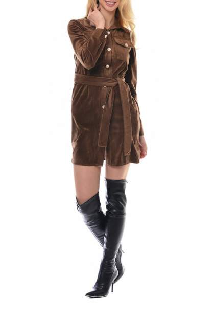 Платье женское MODALETO 21747 коричневое 40 RU