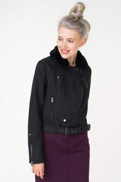Куртка женская ONLY 15159455 черная 46 EU