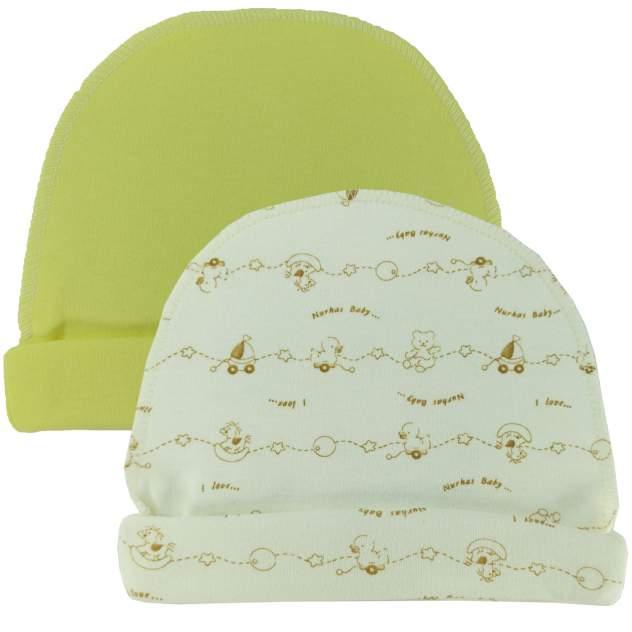Комплект шапок 2 шт. Папитто желт. р.36 37-032
