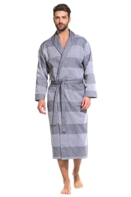 Легкий мужской халат из органического хлопка Pur Organique 417 (мужской) 417/серый/XL