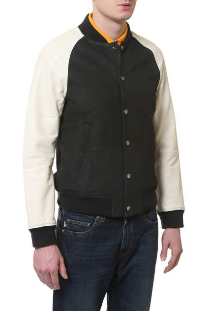 Куртка кожаная мужская Tommy Hilfiger черная 50