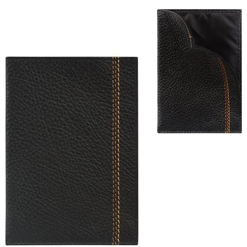 Обложка для паспорта мужская Fabula Brooklyn черная