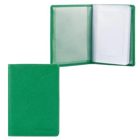 Обложка для автодокументов унисекс Fabula Every day зеленая