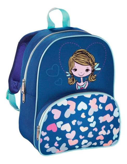 Рюкзак детский Hama Дошкольный Lovely Girl голубой синий 00139103