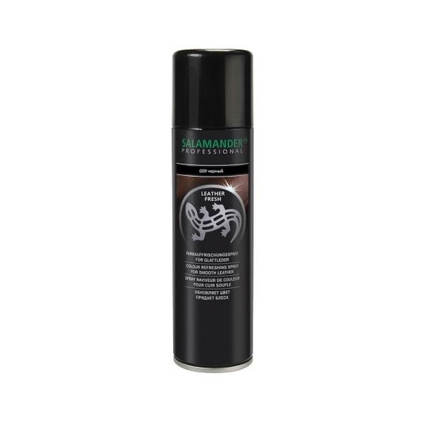 Аэрозоль Salamander Leather Fresh для гладкой кожи черный 250 мл