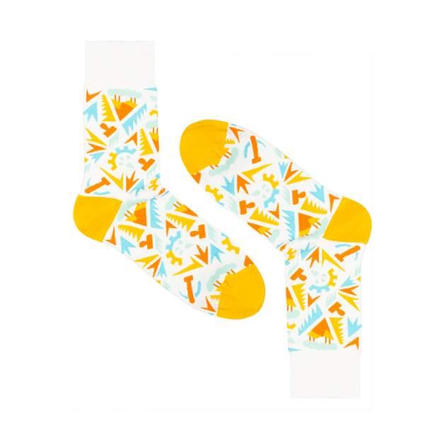 Носки унисекс Burning heels Индустрия желтые 36-38