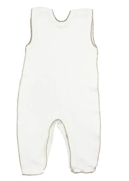 Ползунки детские Осьминожка высокие Мишка (интерлок) цв. белый р.68
