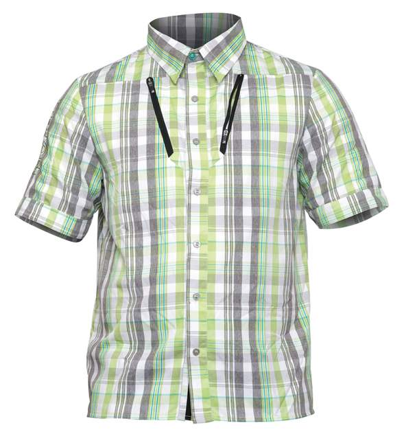 Рубашка Norfin Summer, серый/зеленый, 3XL INT