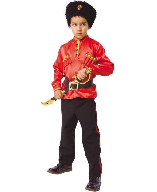 Карнавальный костюм Батик Казак, цв. красный; черный р.110