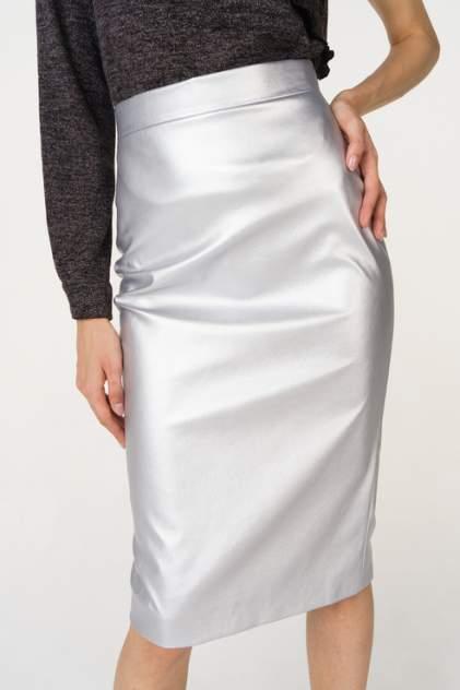 Юбка женская T-Skirt 16AW-02-0276-FS серебристая 44 RU