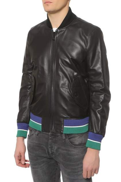 Куртка кожаная мужская Tommy Hilfiger черная 46