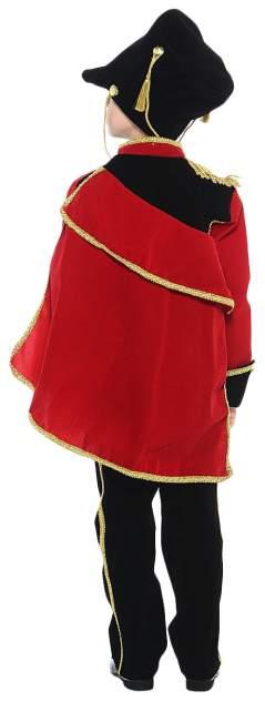 Карнавальный костюм Батик Гусар, цв. красный; черный р.122