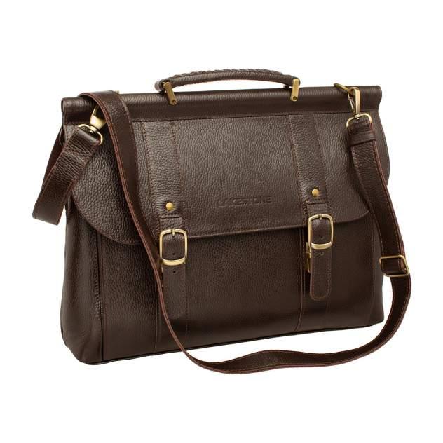 Портфель кожаный Lakestone 943121 коричневый