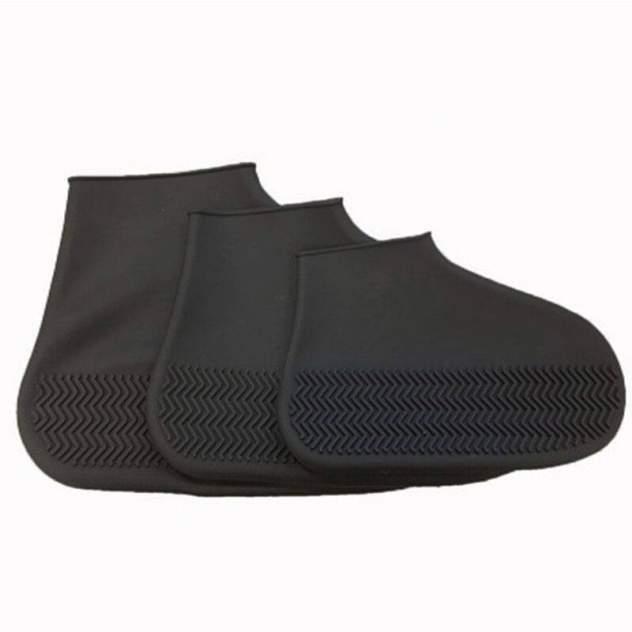 Силиконовые водонепроницаемые чехлы бахилы Baziator для обуви черные L