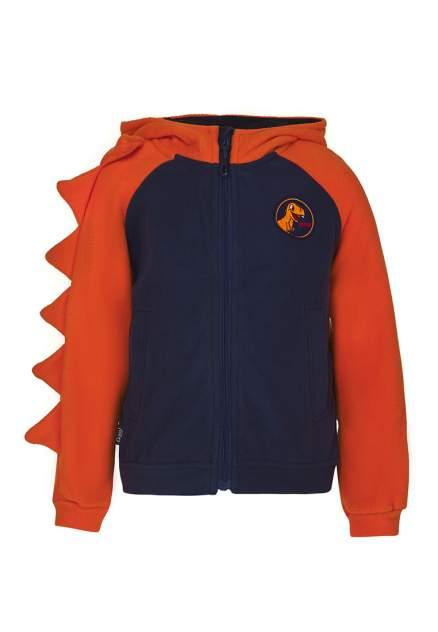 Худи для мальчиков OLDOS ASS201FJT03 цв. синий, оранжевый р.98