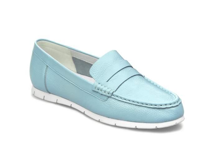 Мокасины женские El Tempo VIC47_4-LQ131-13 голубые 37 EU