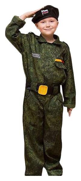 Карнавальный костюм Бока Военный, цв. хаки р.122