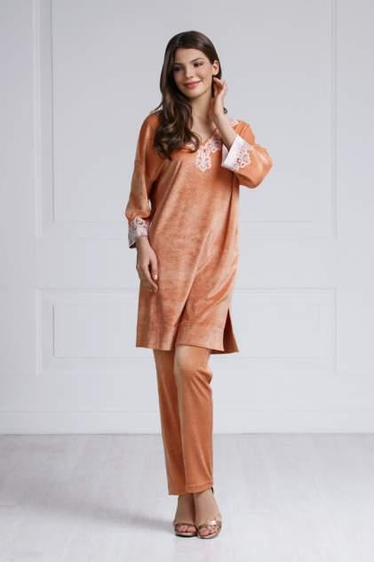 Домашнее платье женское Laete 20279 оранжевое 2XL