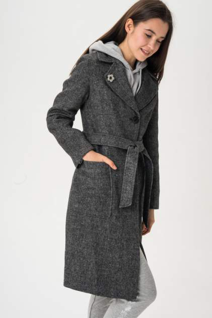 Женское пальто ElectraStyle 3-6040-317, серый