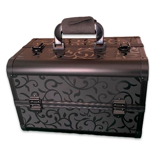 Бьюти кейс для косметики CWB7350 черный с узором