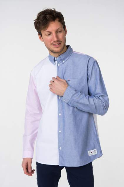 Рубашка мужская Tommy Jeans DM0DM05453, голубой