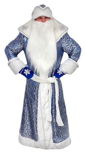 Карнавальный костюм Бока Дед Мороз, цв. синий р.176