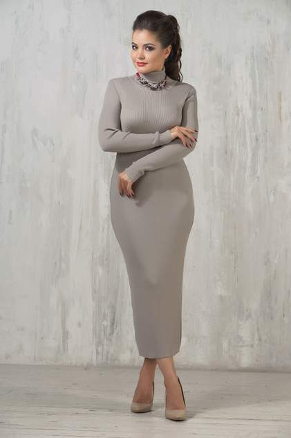 Платье женское VAY 2237 коричневое 44 RU