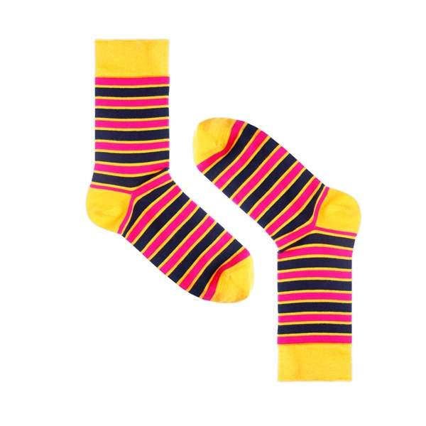 Носки унисекс Burning heels Полосатый желтые 36-38