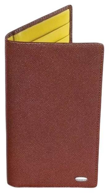 Бумажник Dalvey в карман жилета вертикальный Коричневый/Желтый