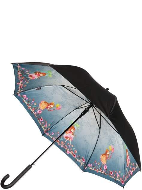 Зонт-трость женский полуавтоматический Eleganzza 01-00026852 серый
