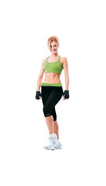 Леггинсы Bradex Body Shaper черные/зеленые, XL