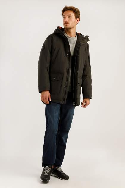 Пуховик мужской Finn Flare A19-22007F коричневый S