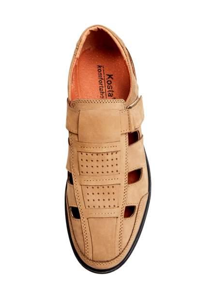 Сандалии мужские Alessio Nesca 32606530 коричневые 44 RU