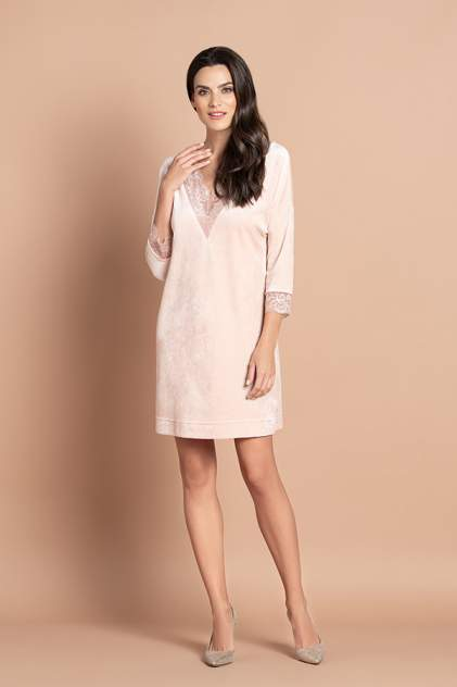 Домашнее платье женское Laete 20309-1 бежевое 2XL