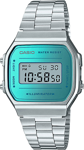 Наручные часы электронные мужские Casio Illuminator Collection A-168WEM-2E