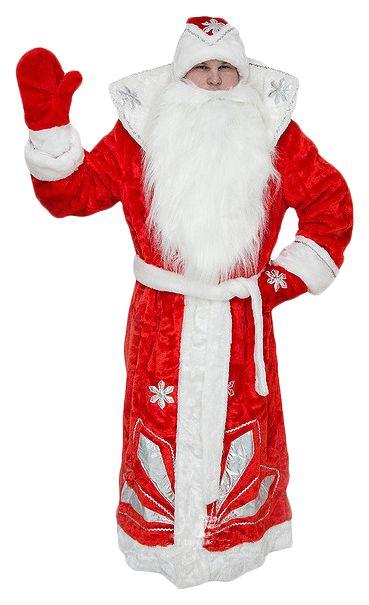 Карнавальный костюм Бока Дед Мороз, цв. красный р.176