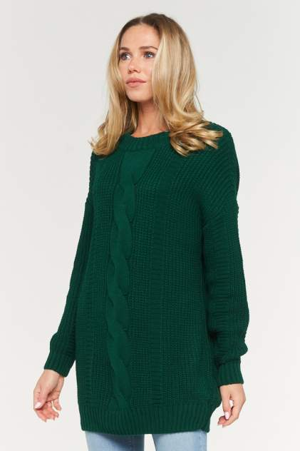 Свитер женский VAY 192-4009 зеленый 52 RU
