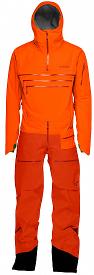 Комбинезон Norrona Lofoten Gore-Tex Pro One-Piece (M/W) темно-оранжевый, L