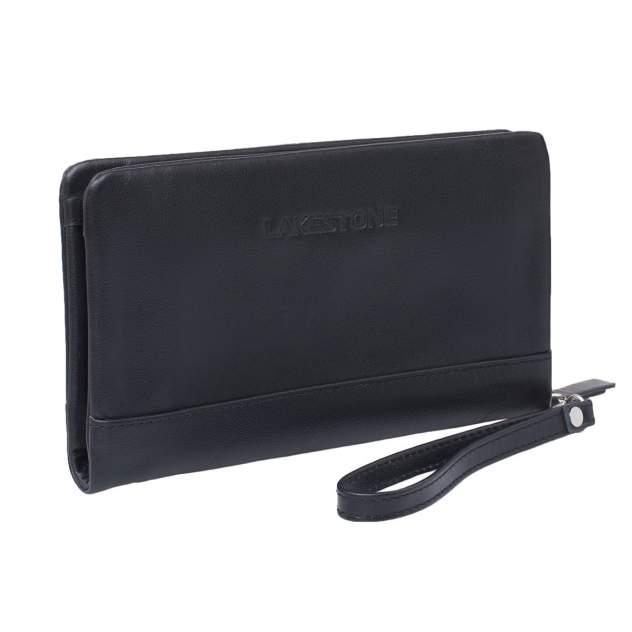 Клатч мужской кожаный Lakestone Crispin 932024/BL черный