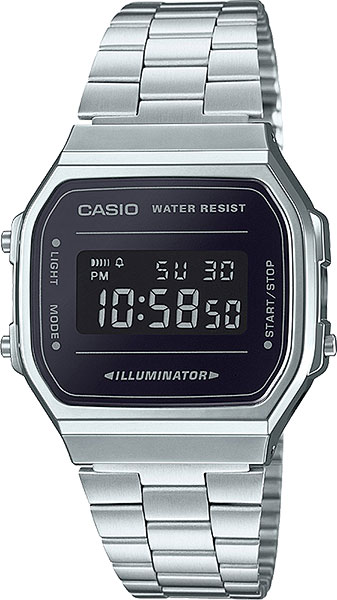 Наручные часы электронные мужские Casio Illuminator Collection A-168WEM-1E