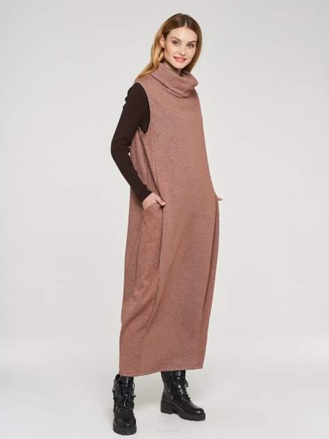 Платье женское VAY 182-3458 коричневое 56 RU