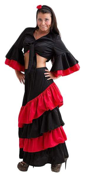 Карнавальный костюм Бока Испанка, цв. черный р.170