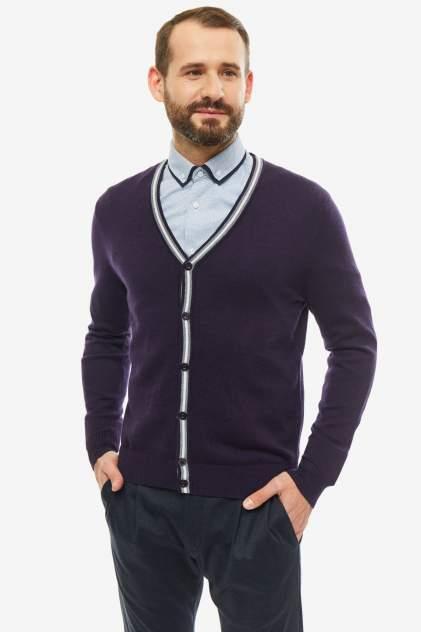 Кардиган мужской John Jeniford JJT-192-008 фиолетовый 2XL