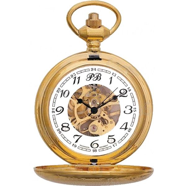 Карманные часы мужские Русское время 2136896 золотистые