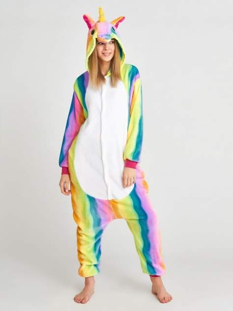 Кигуруми BearWear Радужный Единорог, разноцветный